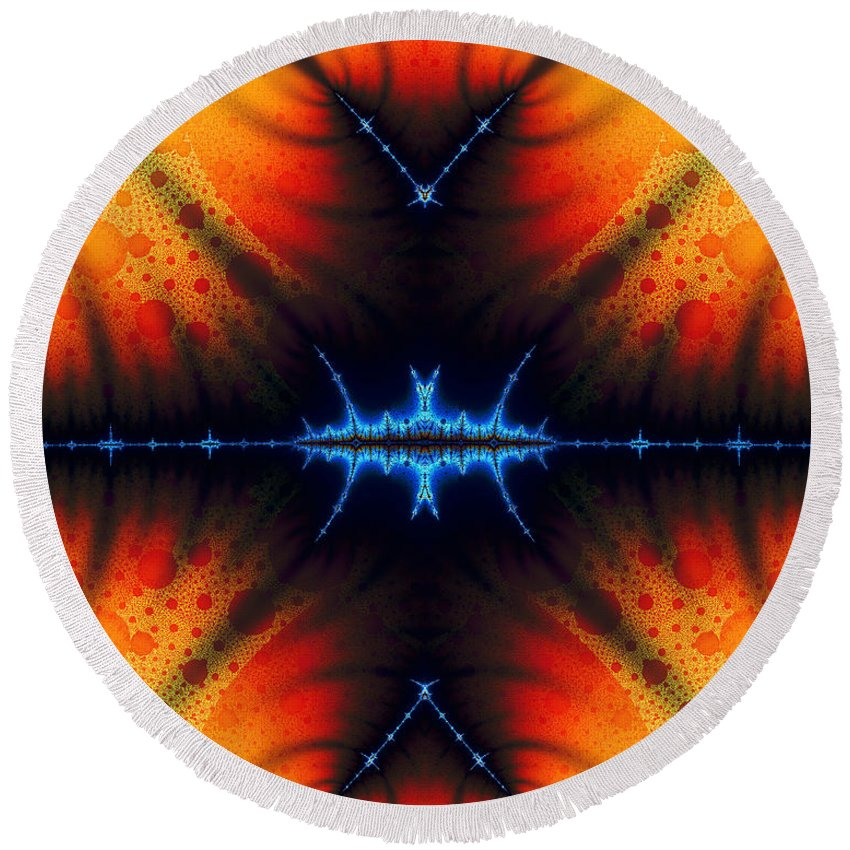 Clay Round Beach Towel featuring the digital art Transient Propagation by Clayton Bruster