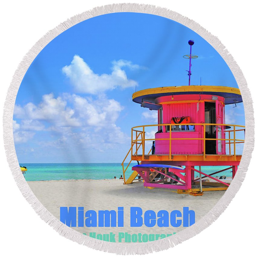 Sobe Round Beach Towel featuring the photograph Travel-sobe by Jost Houk