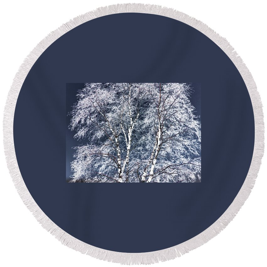Tree Round Beach Towel featuring the digital art Tree Fantasy 14 by Lee Santa