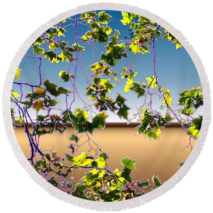 Tree Round Beach Towel featuring the photograph Tree Leaves by Tim Allen