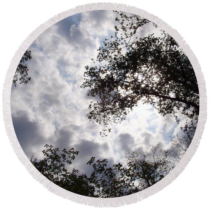 Tree Round Beach Towel featuring the photograph Tree Swirl by Deborah Crew-Johnson
