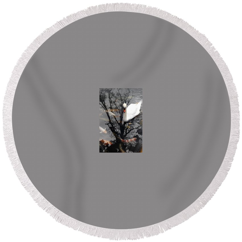 Water Round Beach Towel featuring the photograph Trees In Japan 7 by George Cabig