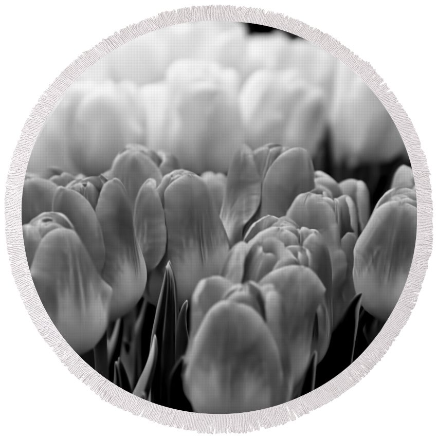 Flowers Round Beach Towel featuring the photograph Tulip 33 by Ingrid Smith-Johnsen