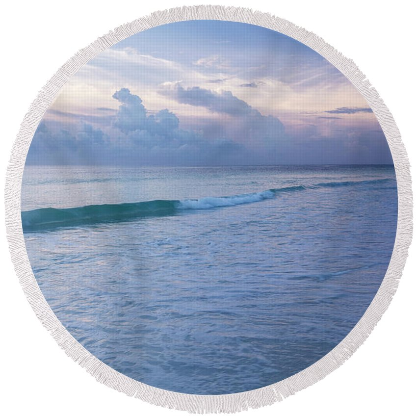Tulum Round Beach Towel featuring the photograph Tulum - The Beach by Isabella Biava