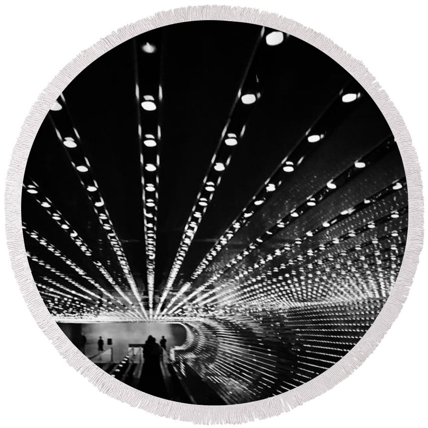Landscape Round Beach Towel featuring the photograph Tunnel Vision by Donald Harrison