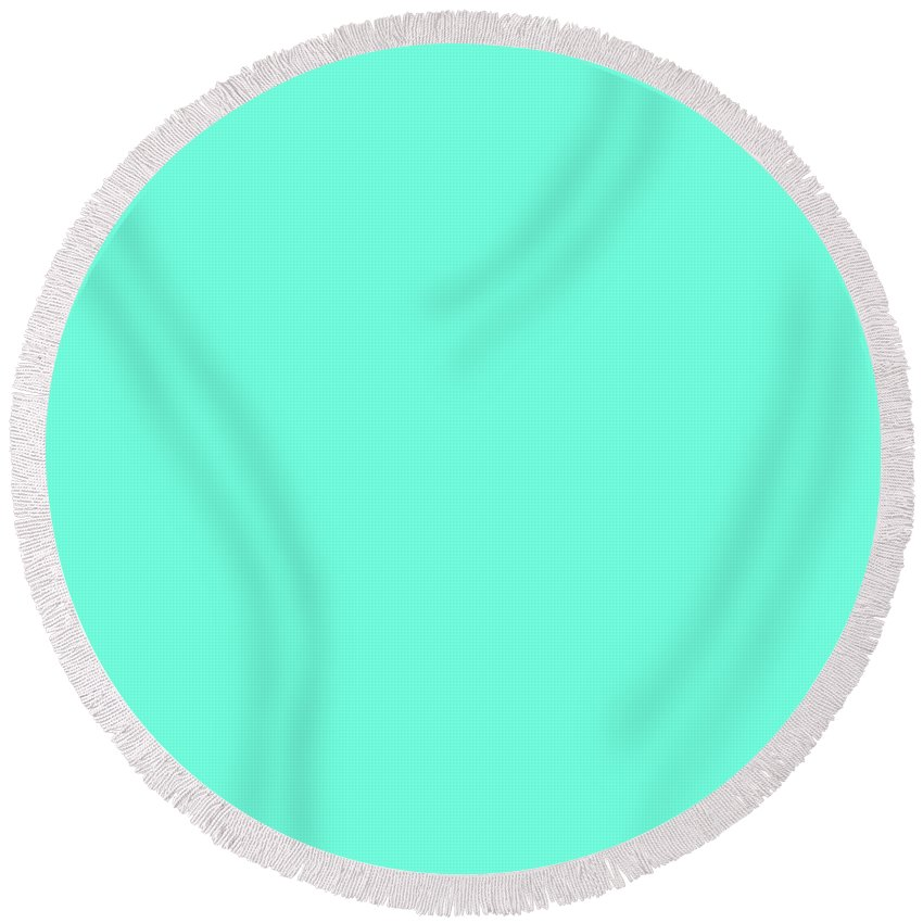 Turquoise Round Beach Towel featuring the digital art Turquoise by Susan Link