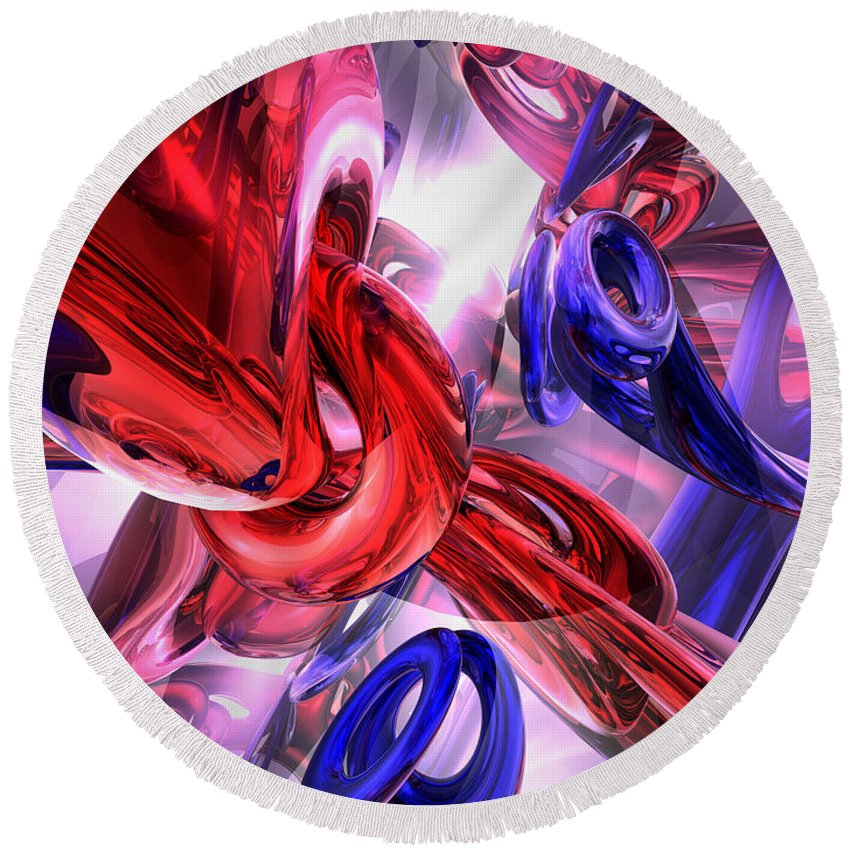 3d Round Beach Towel featuring the digital art Unchained Abstract by Alexander Butler