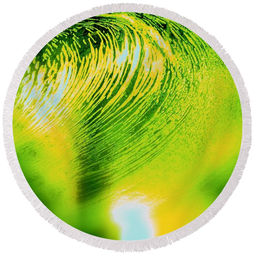 Abstract Round Beach Towel featuring the photograph Universal Convergence by Sybil Staples