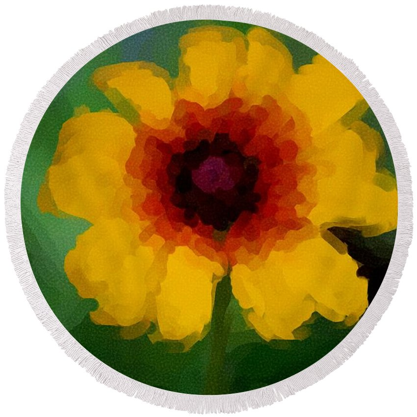 Digital Photograph Round Beach Towel featuring the photograph Untitled 9-15-09 by David Lane