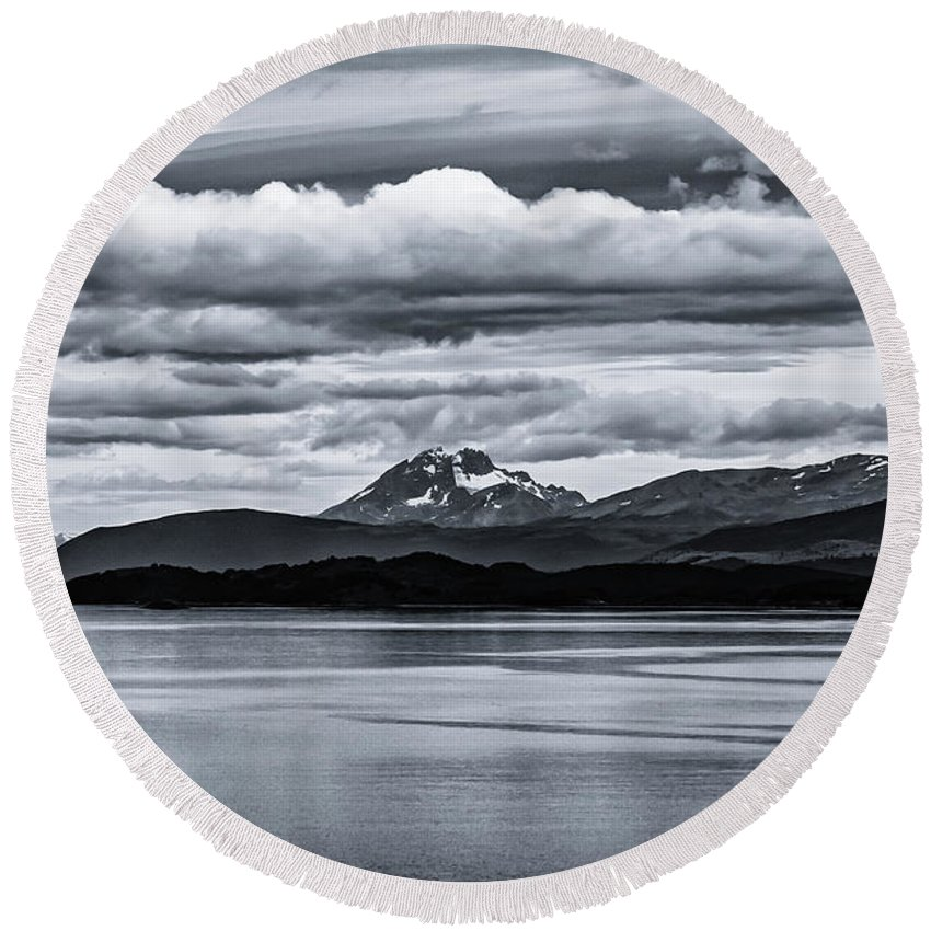 Ushuaia Round Beach Towel featuring the photograph Ushuaia Ar 1 by Stefan H Unger