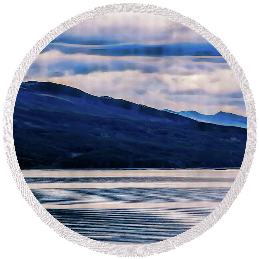 Ushuaia Round Beach Towel featuring the photograph Ushuaia Ar 2 by Stefan H Unger