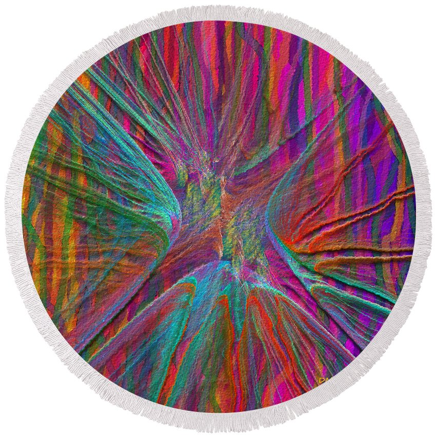 Vertical Round Beach Towel featuring the digital art Vertical Challenge by Diane Parnell