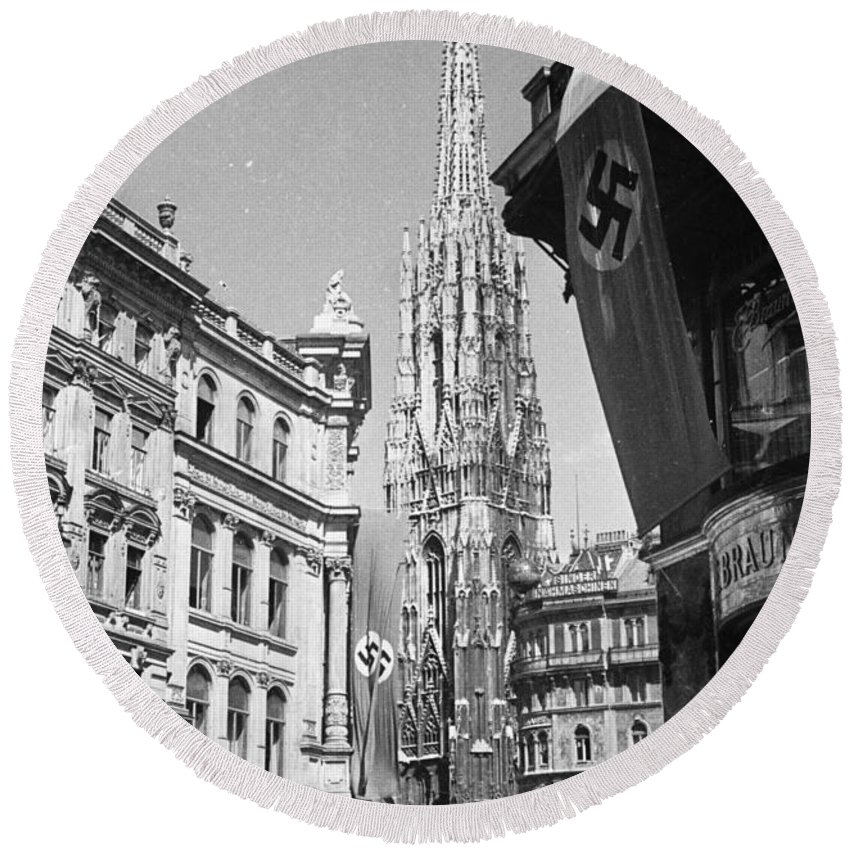 Vienna Round Beach Towel featuring the photograph Vienna by Oleg Konin