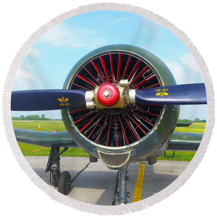 Airplane Round Beach Towel featuring the photograph Vietnam Plane by Shelly Dixon
