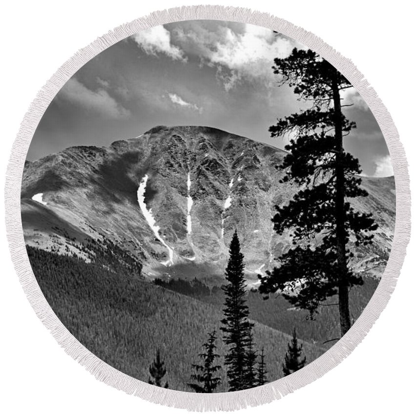 View Round Beach Towel featuring the photograph View From Atop Winter Park Mountain 2 by Robert Meyers-Lussier