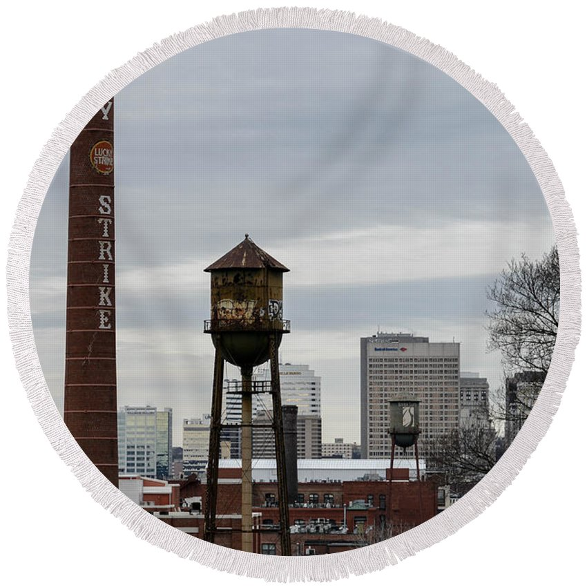 Richmond Round Beach Towel featuring the photograph View From Libby Hill by Aaron Dishner