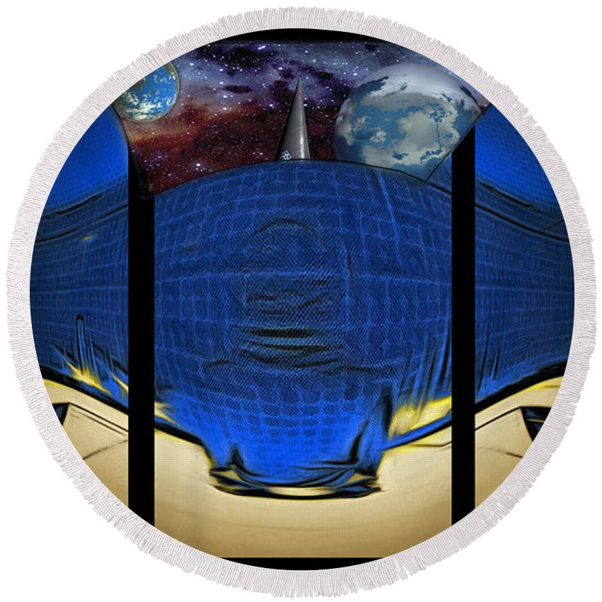 Digital Art Style Round Beach Towel featuring the digital art View Of Space From The Observatory by Mario Carini