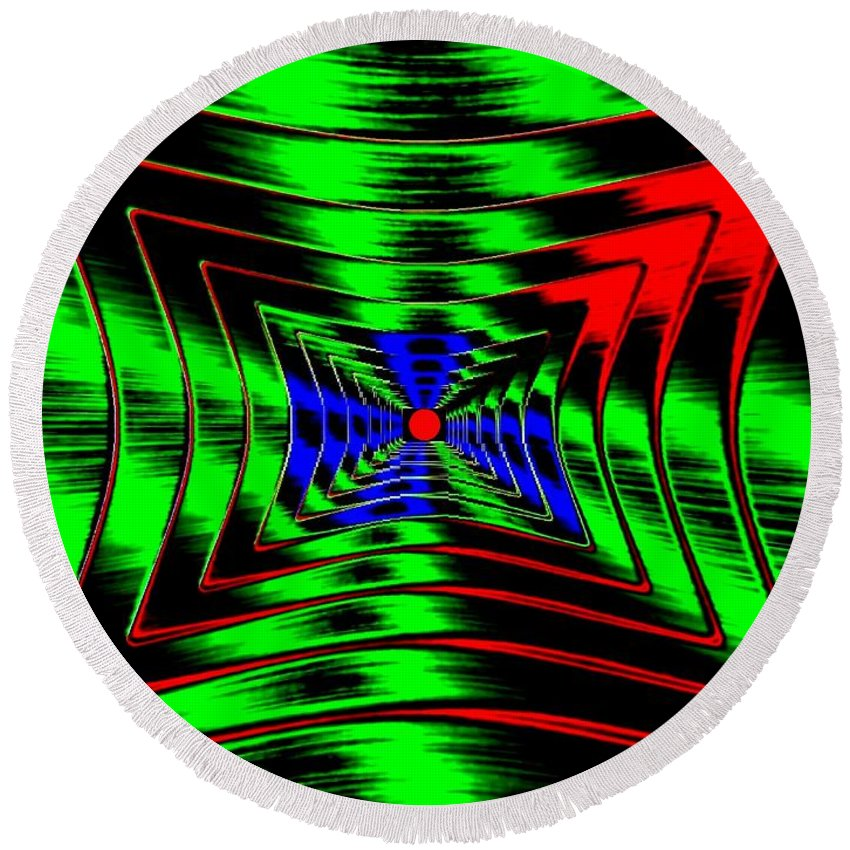 Energizing Round Beach Towel featuring the digital art Vim And Vigor by Will Borden