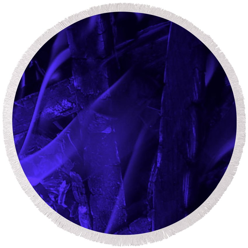 Orphelia Aristal Round Beach Towel featuring the photograph Violet Shine I by Orphelia Aristal