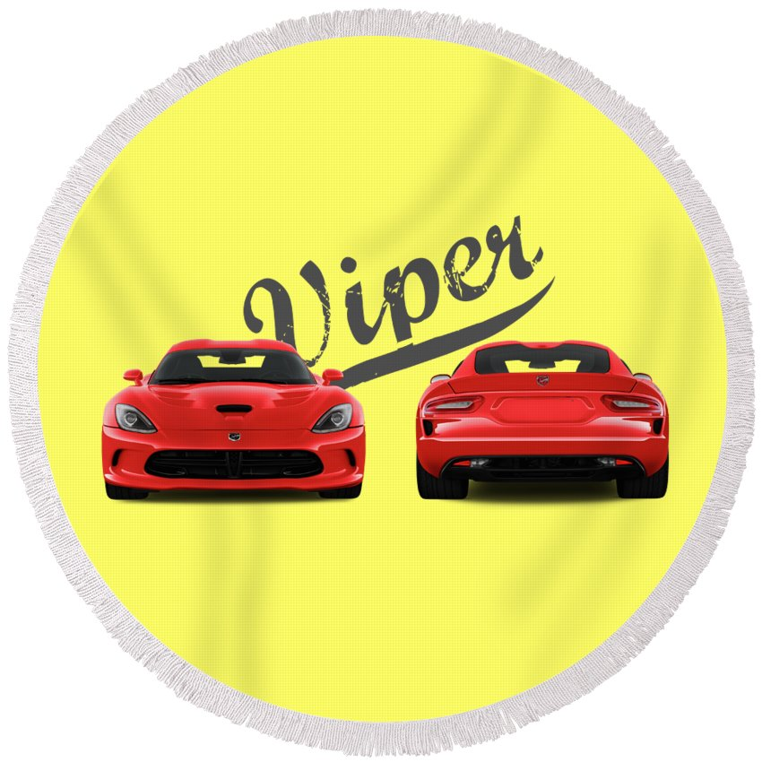 Viper Round Beach Towels