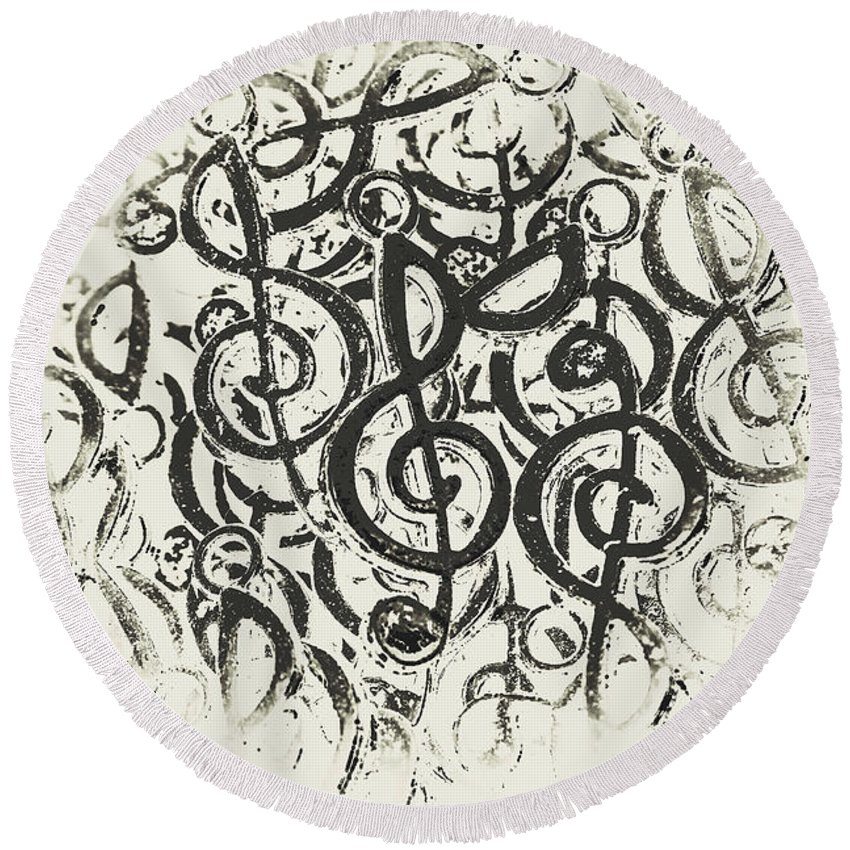 Symphony Round Beach Towel featuring the photograph Visual Noise by Jorgo Photography - Wall Art Gallery