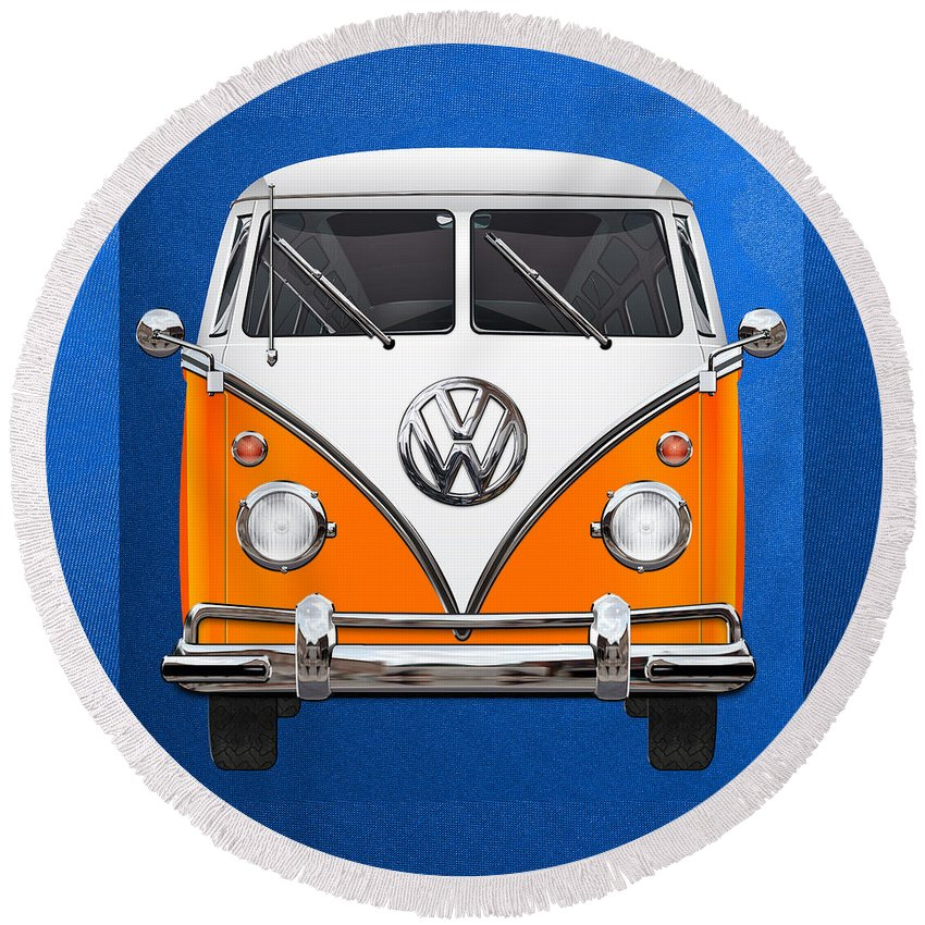 Microbus Round Beach Towels