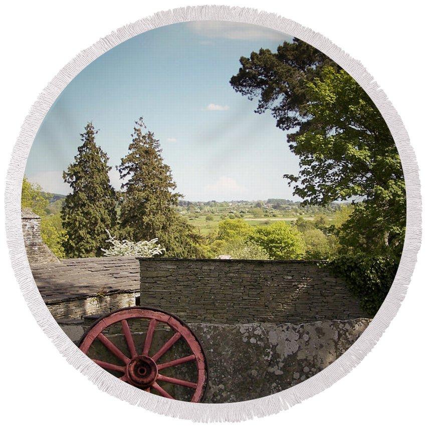 Irish Round Beach Towel featuring the photograph Wagon Wheel County Clare Ireland by Teresa Mucha