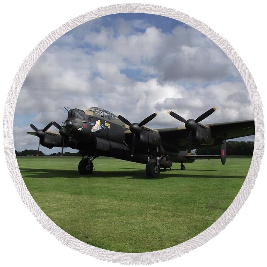Avro Round Beach Towel featuring the photograph Warrior At Rest by Adrian Brown