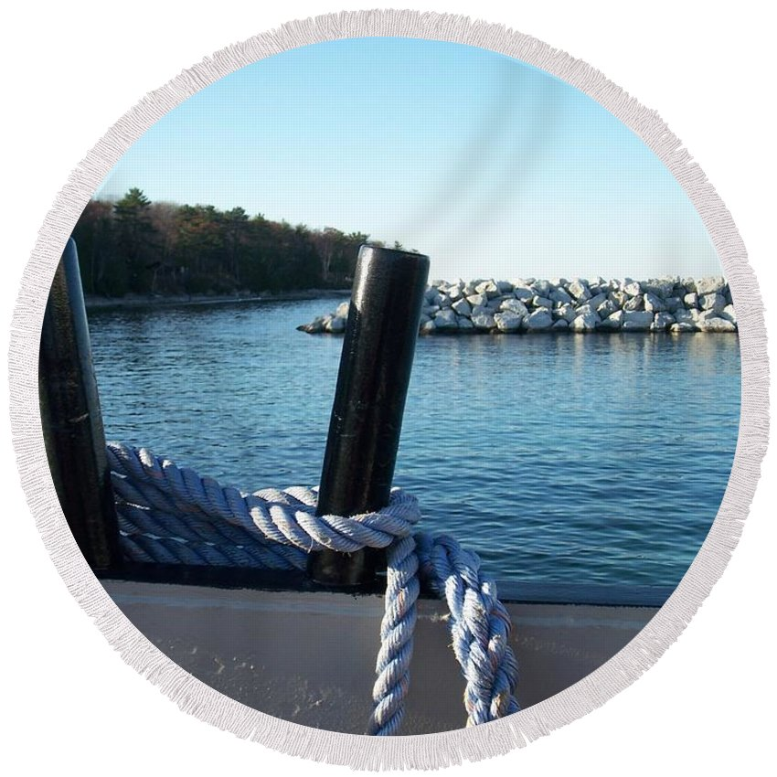 Washington Island Round Beach Towel featuring the photograph Washington Island 1 by Anita Burgermeister