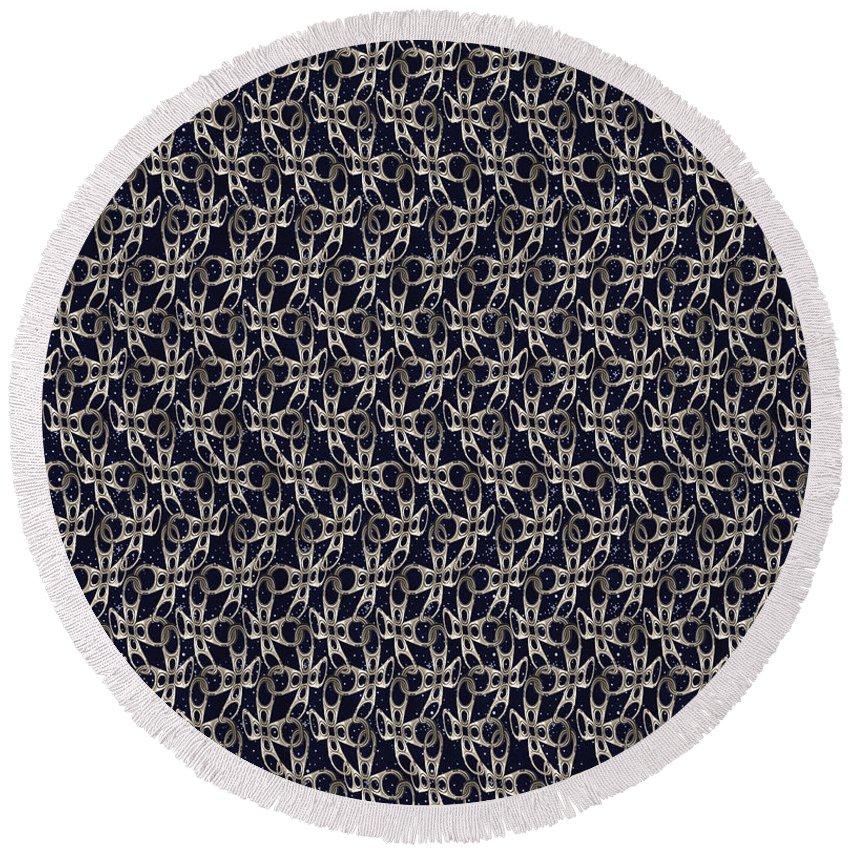Ringpull Round Beach Towel featuring the digital art Waste In Space by Deborah Runham