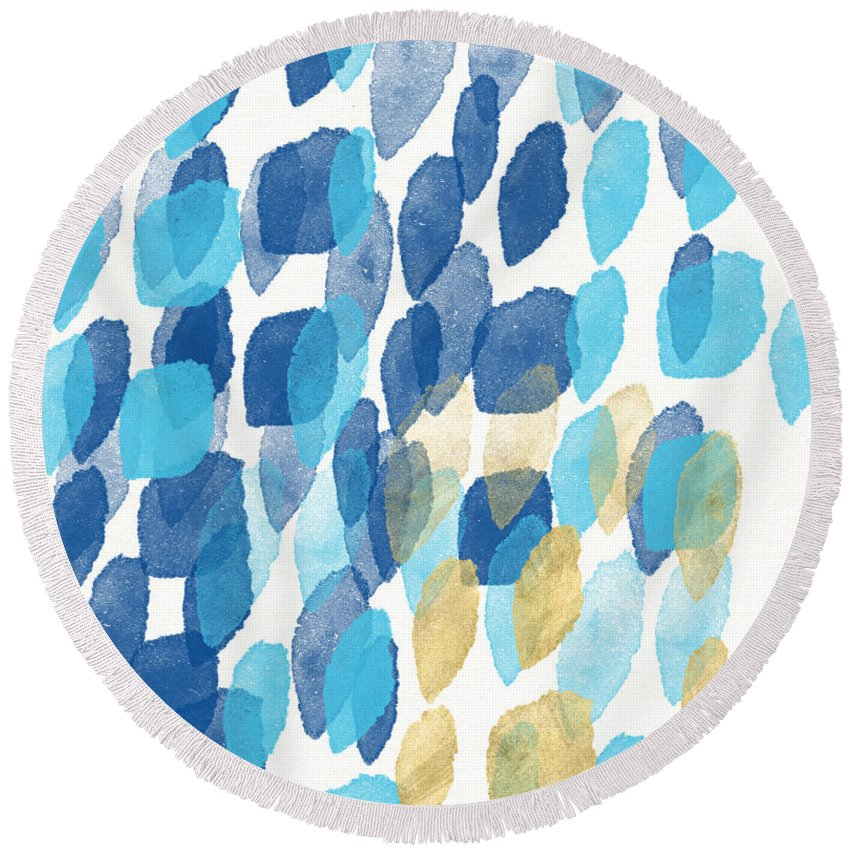 Soothing Paintings Round Beach Towels