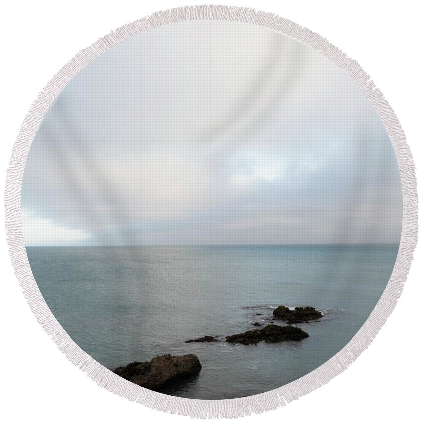 Sea Round Beach Towel featuring the photograph We Found The Sea Of Green by Alex Lapidus
