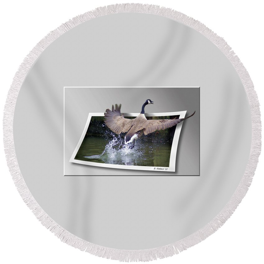 2d Round Beach Towel featuring the photograph We Have Liftoff by Brian Wallace