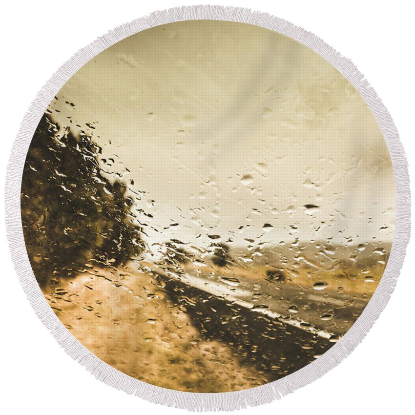Driving Round Beach Towel featuring the photograph Weather Roads by Jorgo Photography - Wall Art Gallery