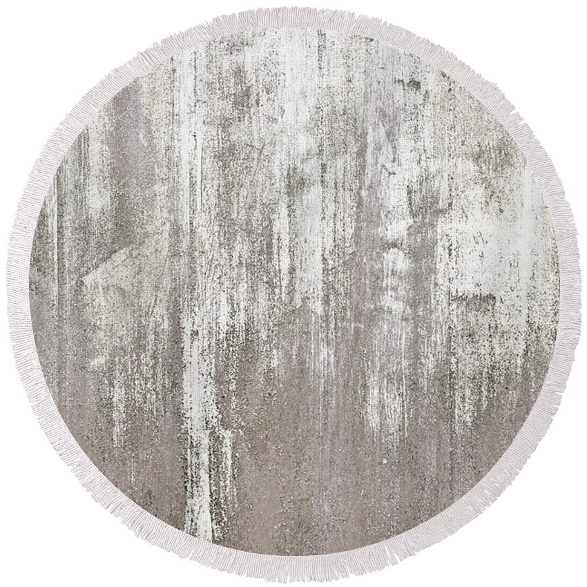 Abandoned Round Beach Towel featuring the photograph Weathered Metal by Tom Gowanlock