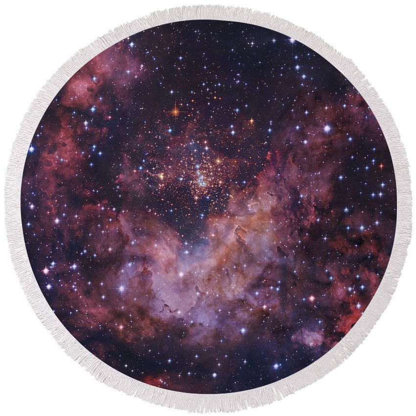Open Clusters Round Beach Towel featuring the photograph Westerlund 2 Star Cluster In Carina by Robert Gendler