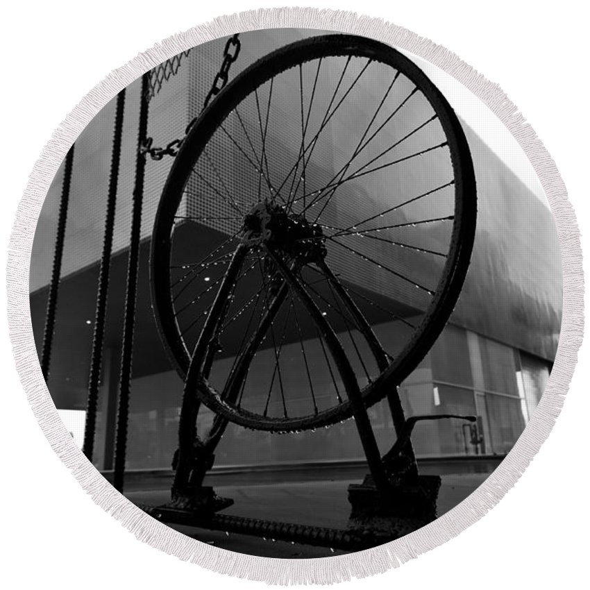 Wheel Round Beach Towel featuring the photograph Wheel Art by David Lee Thompson
