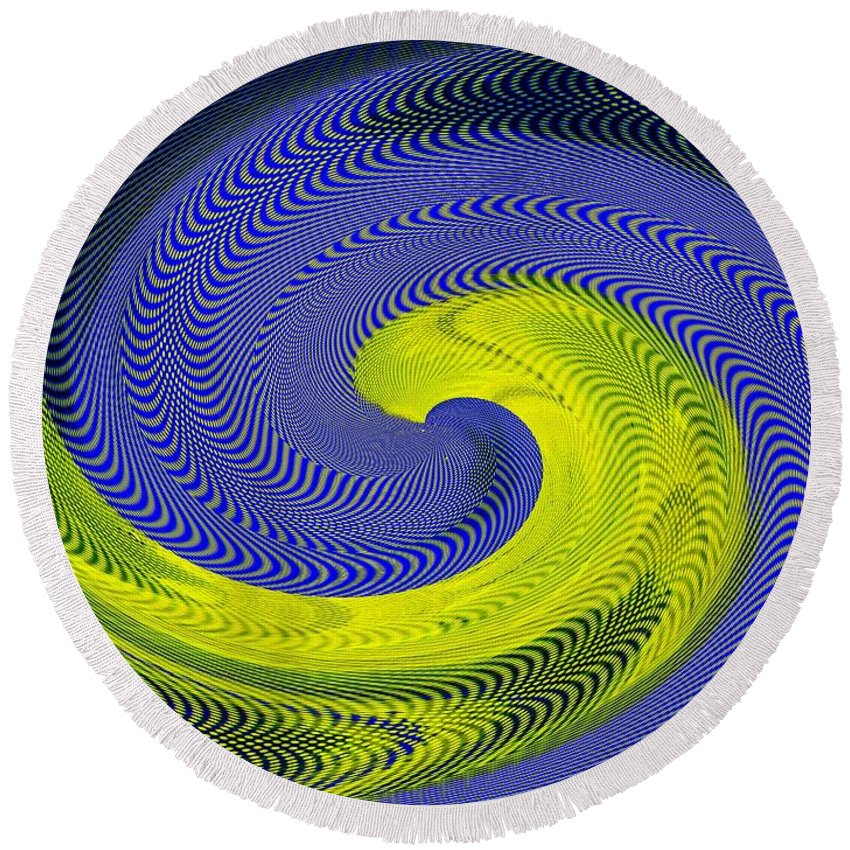Whirlpool Round Beach Towel featuring the photograph Whirlpool 4 by Tim Allen