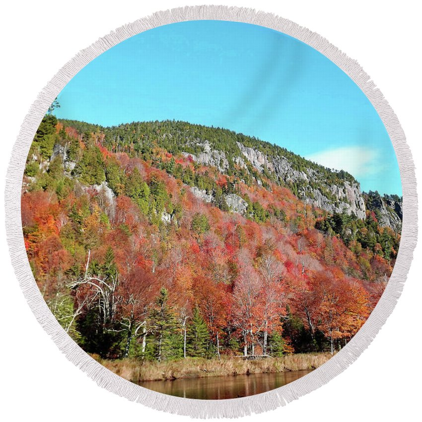White Face Mt. . 10 / 17 Round Beach Towel featuring the photograph White Face Mt. by Joseph F Safin