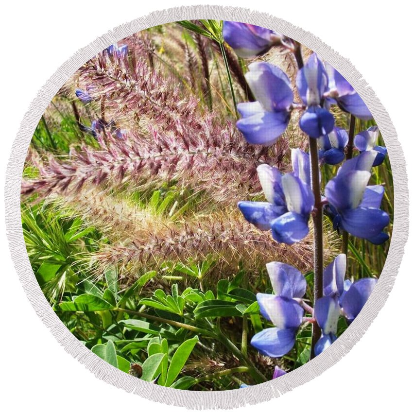 Flower Round Beach Towel featuring the photograph Wild Flower by Shari Chavira