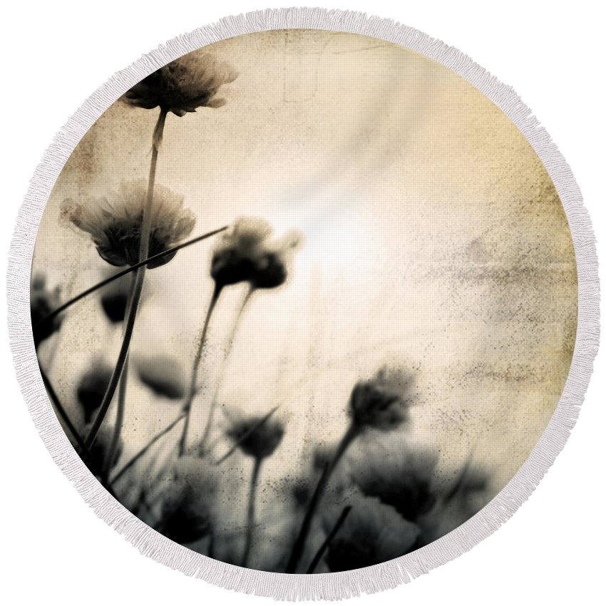 Flower Round Beach Towel featuring the photograph Wild Things - Number 3 by Dorit Fuhg