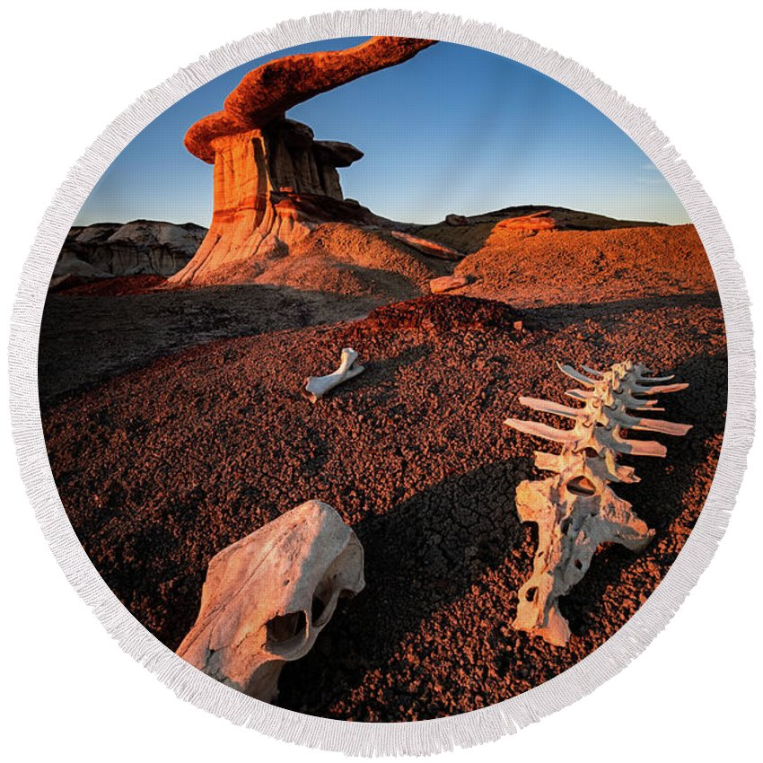 Amaizing Round Beach Towel featuring the photograph Wild Wild West by Edgars Erglis