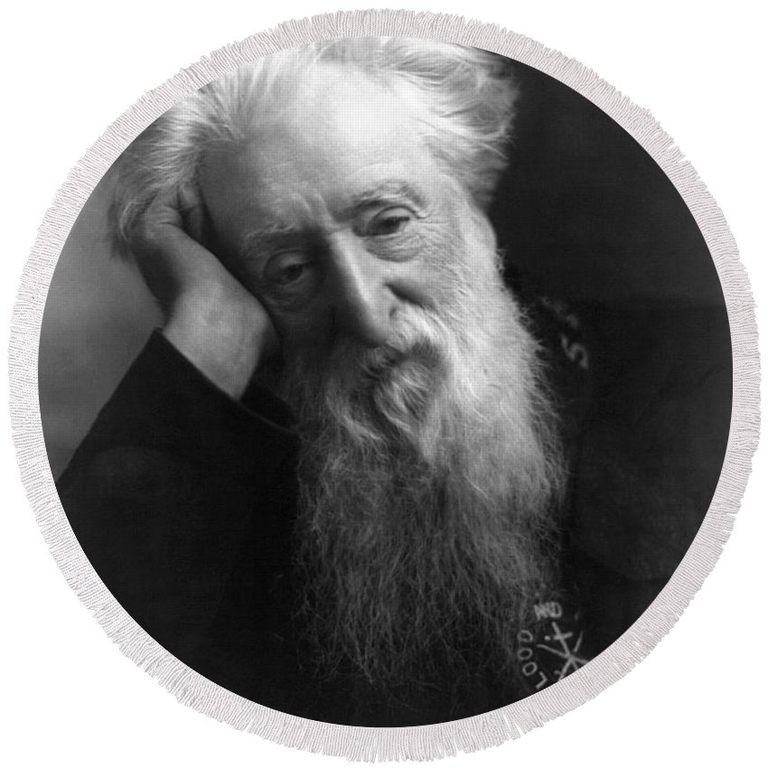 1907 Round Beach Towel featuring the photograph William Booth (1829-1912) by Granger