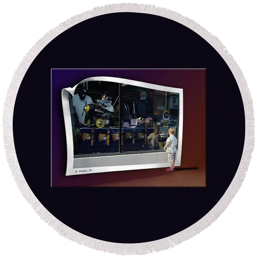 2d Round Beach Towel featuring the photograph Window Dreaming by Brian Wallace