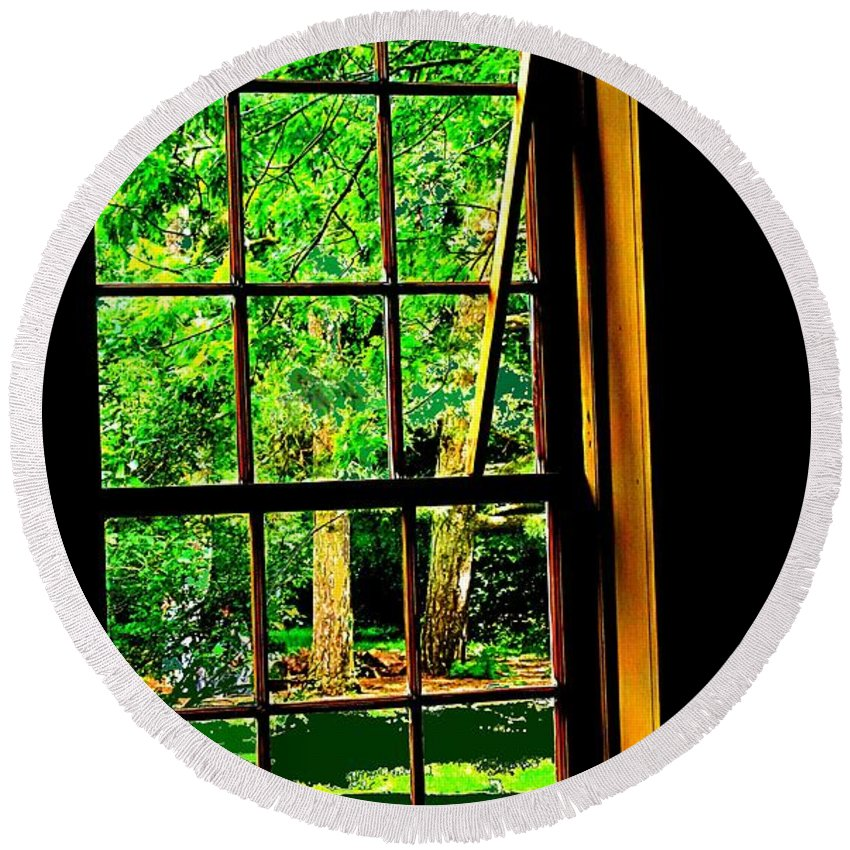 Window Round Beach Towel featuring the photograph Window To My World by Ian MacDonald