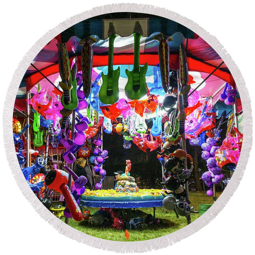 Vallejo Round Beach Towel featuring the photograph Winner Winner Chicken Dinner by Kristofer M Johnson