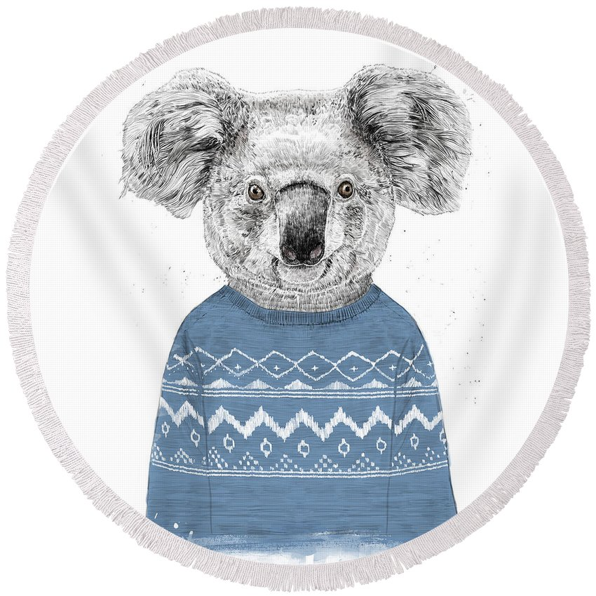Koala Round Beach Towels