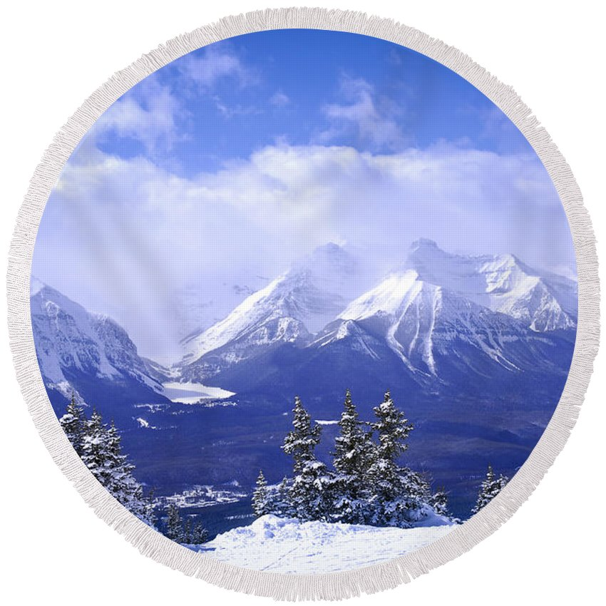 Rocky Mountain National Park Round Beach Towels