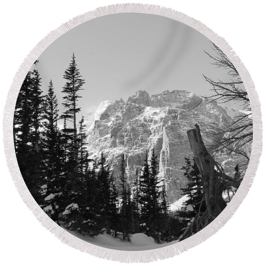 Nature Round Beach Towel featuring the photograph Winter Wonders 3 by Tonya Hance