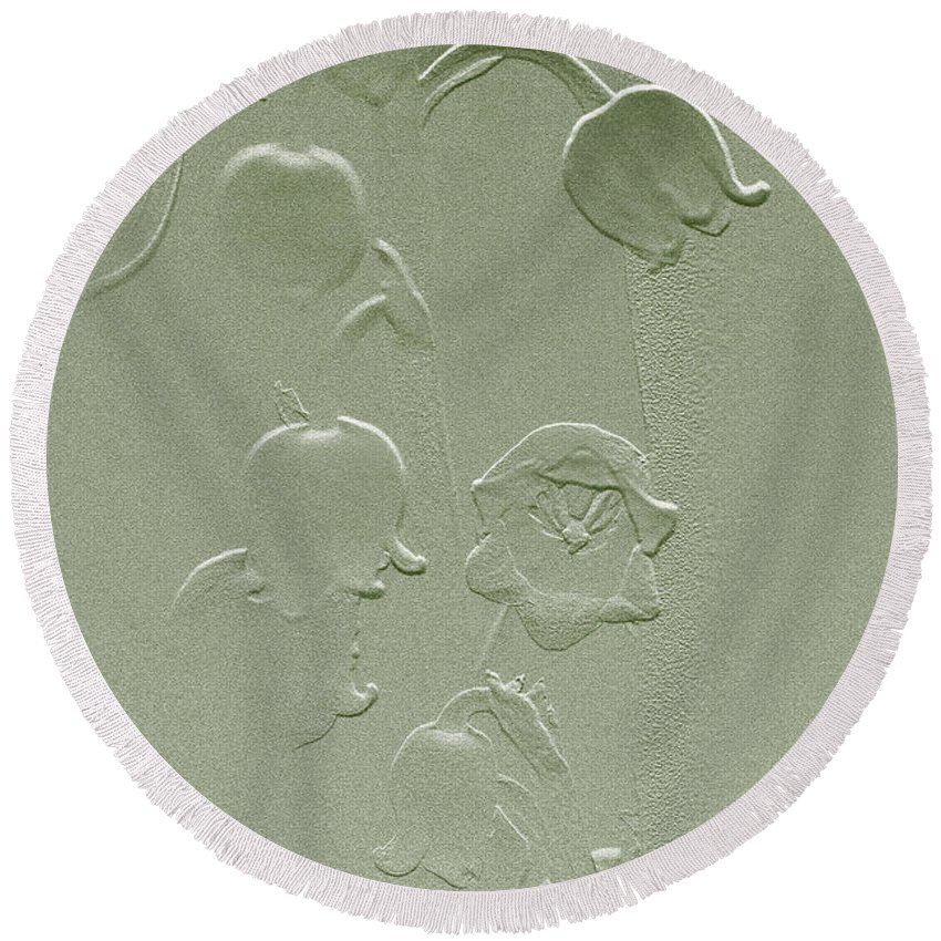 lily Of The Valley Round Beach Towel featuring the photograph Wishing You Joy Greeting Card - Lily Of The Valley by Mother Nature